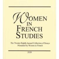 Women in French Studies, vol. 28, 2020