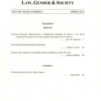 Wisconsin Journal of Law, Gender & Society, vol. 33, no. 1, Spring 2018