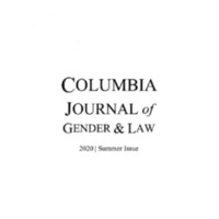 Columbia Journal of Gender & Law, vol. 39, no. 2, 2020