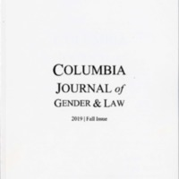 Columbia Journal of Gender &  Law, vol. 39, no. 1, 2019